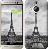 Чехол для HTC One M9 Plus Чёрно-белая Эйфелева башня 842u-134