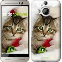 Чехол для HTC One M9 Plus Новогодний котёнок в шапке 494u-134