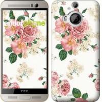 Чехол для HTC One M9 Plus цветочные обои v1 2293u-134