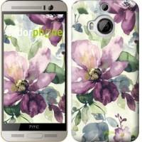Чехол для HTC One M9 Plus Цветы акварелью 2237u-134