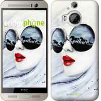 Чехол для HTC One M9 Plus Девушка акварелью 2829u-134