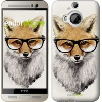 Чехол для HTC One M9 Plus Лис в очках 2707u-134