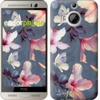 Чехол для HTC One M9 Plus Нарисованные цветы 2714u-134