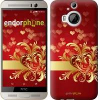 Чехол для HTC One M9 Plus Ажурные сердца 734u-134
