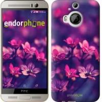 Чехол для HTC One M9 Plus Пурпурные цветы 2719u-134