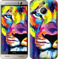 Чехол для HTC One M9 Plus Разноцветный лев 2713u-134