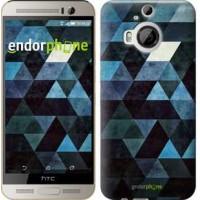Чехол для HTC One M9 Plus Треугольники 2859u-134