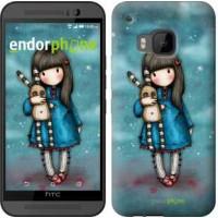 Чехол для HTC One M9 Девочка с зайчиком 915u-129