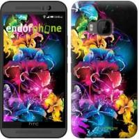 Чехол для HTC One M9 Абстрактные цветы 511u-129