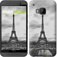 Чехол для HTC One M9 Чёрно-белая Эйфелева башня 842u-129