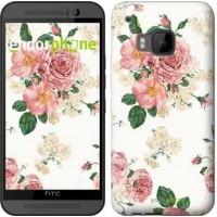 Чехол для HTC One M9 цветочные обои v1 2293u-129