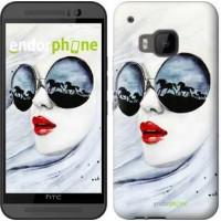 Чехол для HTC One M9 Девушка акварелью 2829u-129