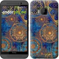 Чехол для HTC One M9 Золотой узор 678u-129