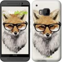 Чехол для HTC One M9 Лис в очках 2707u-129