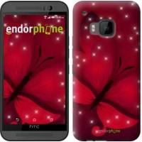 Чехол для HTC One M9 Лунная бабочка 1663u-129
