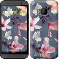 Чехол для HTC One M9 Нарисованные цветы 2714u-129