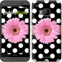 Чехол для HTC One M9 Горошек 2 2147u-129
