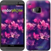 Чехол для HTC One M9 Пурпурные цветы 2719u-129