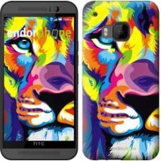 Чехол для HTC One M9 Разноцветный лев 2713u-129