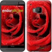 Чехол для HTC One M9 Красная роза 529u-129
