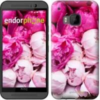 Чехол для HTC One M9 Розовые пионы 2747u-129