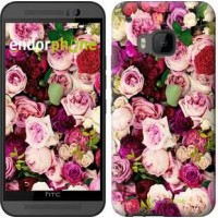 Чехол для HTC One M9 Розы и пионы 2875u-129