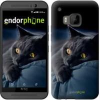 Чехол для HTC One M9 Дымчатый кот 825u-129