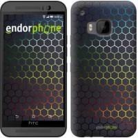 Чехол для HTC One M9 Переливающиеся соты 498u-129