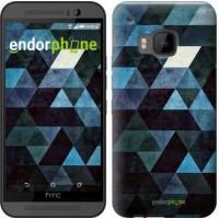 Чехол для HTC One M9 Треугольники 2859u-129