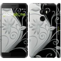 Чехол для HTC One X10 Цветы на чёрно-белом фоне 840m-995