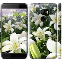 Чехол для HTC One X10 Белые лилии 2686m-995