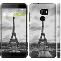 Чехол для HTC One X10 Чёрно-белая Эйфелева башня 842m-995