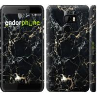 Чехол для HTC One X10 Черный мрамор 3846m-995