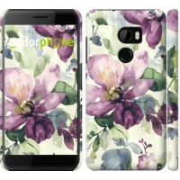 Чехол для HTC One X10 Цветы акварелью 2237m-995