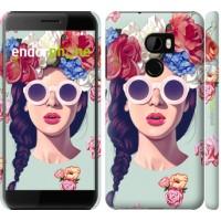 Чехол для HTC One X10 Девушка с цветами 2812m-995