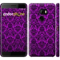 Чехол для HTC One X10 фиолетовый узор барокко 1615m-995