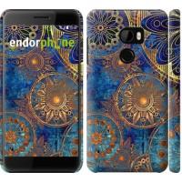 Чехол для HTC One X10 Золотой узор 678m-995