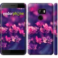 Чехол для HTC One X10 Пурпурные цветы 2719m-995
