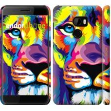 Чехол для HTC One X10 Разноцветный лев 2713m-995