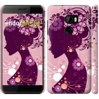Чехол для HTC One X10 Силуэт девушки 2831m-995