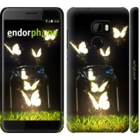 Чехол для HTC One X10 Светящиеся бабочки 2983m-995