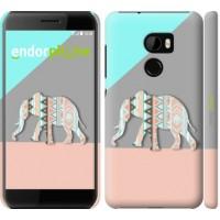 Чехол для HTC One X10 Узорчатый слон 2833m-995