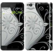Чехол для HTC One X9 Цветы на чёрно-белом фоне 840m-783