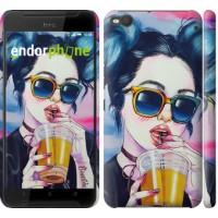 Чехол для HTC One X9 Арт-девушка в очках 3994m-783