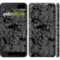 Чехол для HTC One X9 Чёрно-серый стикер бомбинг 2432m-783