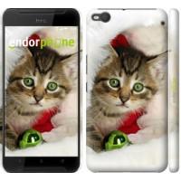 Чехол для HTC One X9 Новогодний котёнок в шапке 494m-783