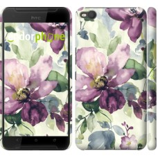Чехол для HTC One X9 Цветы акварелью 2237m-783