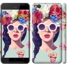 Чехол для HTC One X9 Девушка с цветами 2812m-783