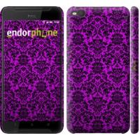 Чехол для HTC One X9 фиолетовый узор барокко 1615m-783