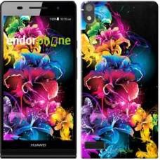 Чехол для Huawei Ascend P6 Абстрактные цветы 511c-39